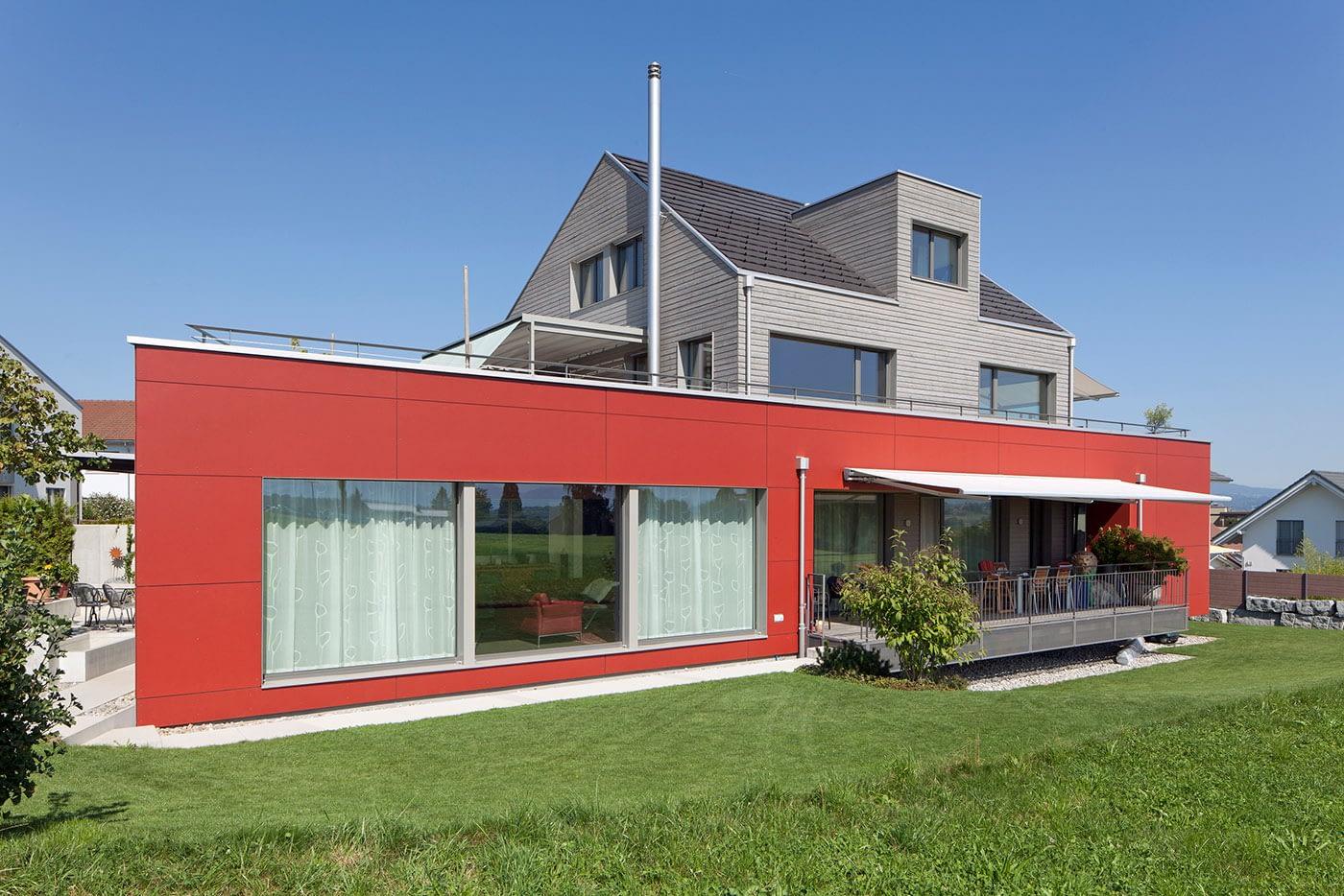 5643 Sins Neubau, Zweifamilienhaus 1996-Bild-1