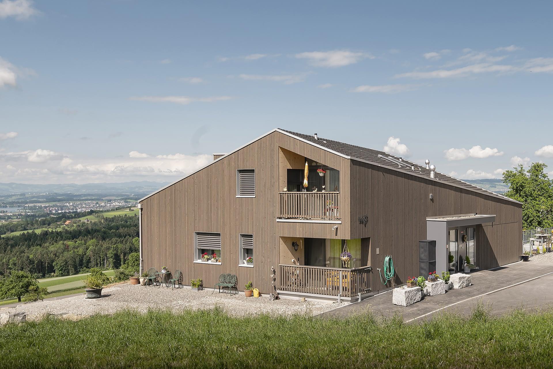 8925 Ebertswil hwp Architekten Neubau Zweifamilienhaus